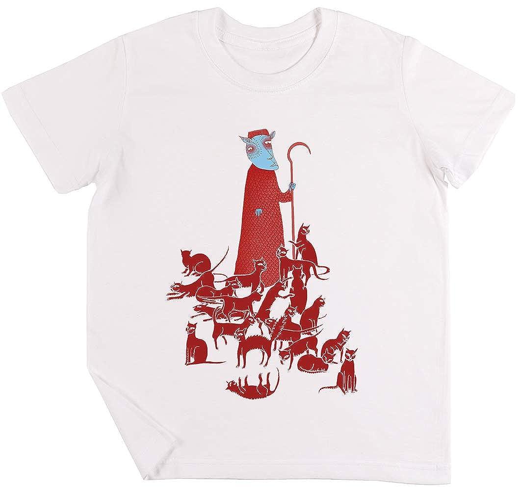 Pastoreo Gatos Niños Chicos Chicas Unisexo Camiseta Blanco: Amazon ...