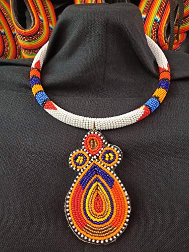 On SALE African White Beaded Multicolored Necklace| Maasai Choker | Stylish | Gift Her | Masai Mara