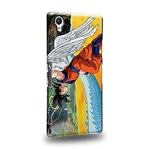 Case88 Premium Designs Dragon Ball Z GT AF Son Gohan Son Goku & Kaio Carcasa/Funda dura para el Sony Xperia Z1 (No Z1 Compact !)