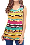 Smallshow Women's Maternity Sleeveless Nursing Top Medium Stripe Svp015