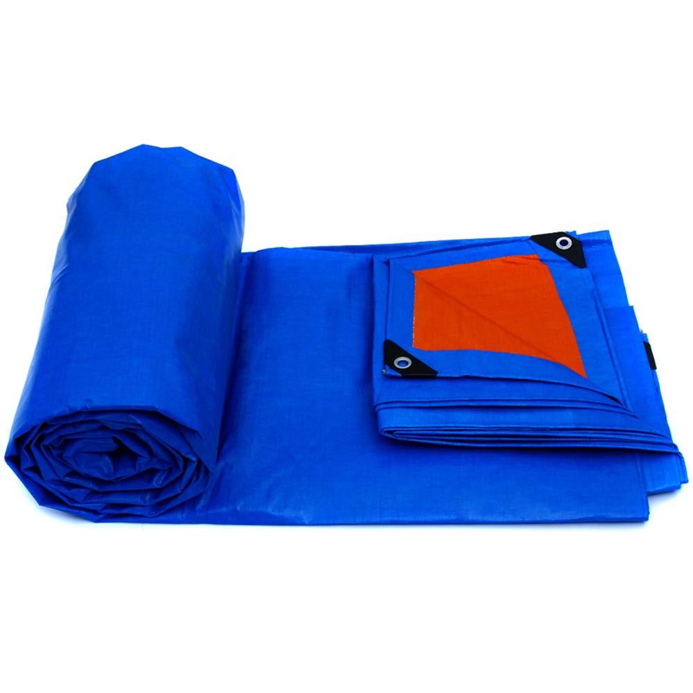 防水シート、屋外防雨シェードプラスチックシート簡単折りたたみトラック防水日焼け止め絶縁キャンバスブルーオレンジ11サイズ 10 × 8 m  B07PLDJJTR