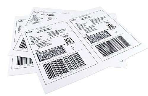 (ChromaLabel 8.5 x 5.5 inch Half Sheet Shipping Labels for Laser and Inkjet Printers (50 Sheets))