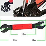 HOMEJIA Double Sided Bike Pedal Wrench Remover