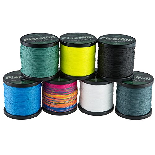 Piscifun improved braided fishing line 6lb 150lb superline for Where to buy fishing line