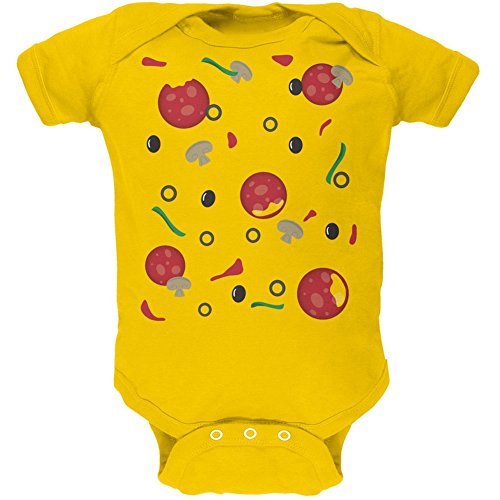 Tv Show Couples Costumes (Halloween Pizza Costume Yellow Soft Baby One Piece - 3-6 months)
