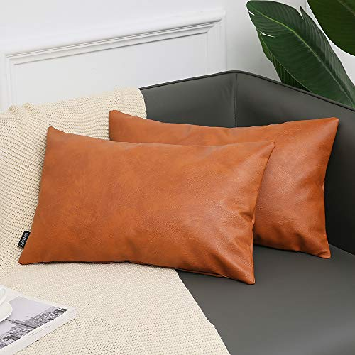 SUNAVEE Leather Pillow Case