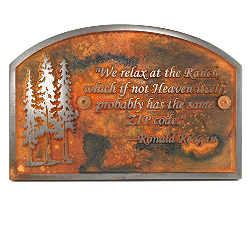 Pine Tree Memorial 14x9 - Raised Iron Rust Coated