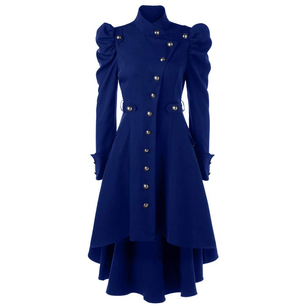 Kulywon blazers for women Womens Vintage Steampunk Long Coat Gothic Overcoat Ladies Retro Jacket