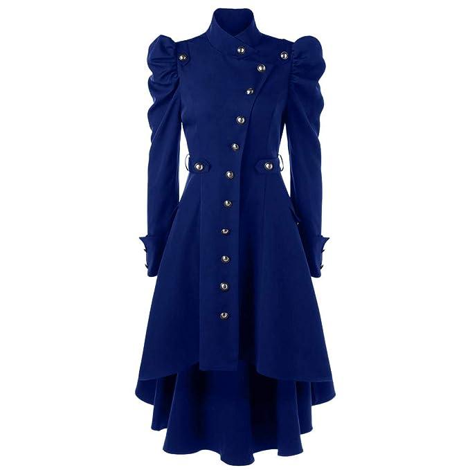 Linlink Mujeres Vintage Steampunk Largo Abrigo gótico Abrigo Damas Chaqueta Retro