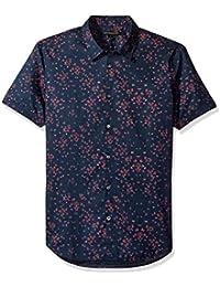 John Varvatos Men's Mayfield Floral Short Sleeve Slim Shirt
