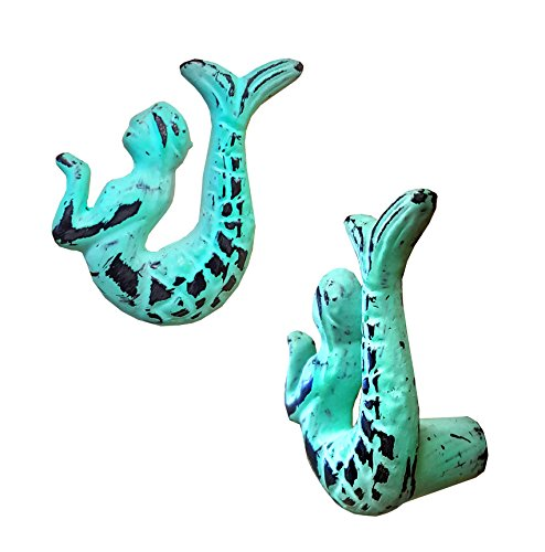 Mermaid Drawer Knobs (NACH ve-2711-8 Mermaid Knob Metal Distressed Green (Set of 8))