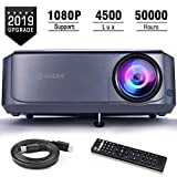 Projector, GuDee Full HD Video Projector for Business PowerPoint Presentations, 1080P Home Movie