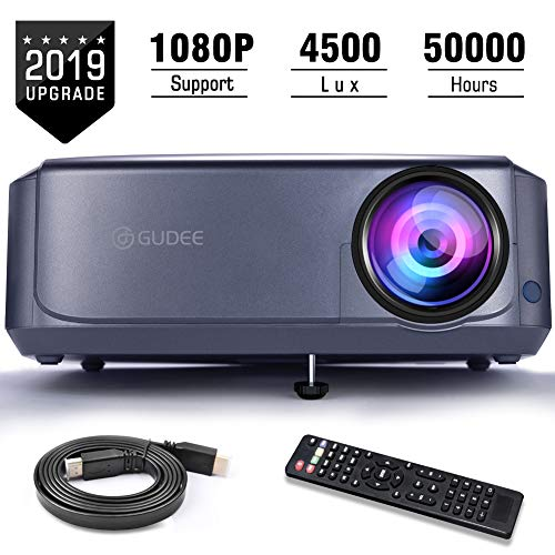 Projector, GuDee Full HD Video Projector for Business PowerPoint Presentations,...