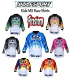 WULFSPORT CUB KIDS FIRESTORM SHIRTS NEW 2018 Motorbike Motocross ATV Quad MX Pit Sport Junior Jersey Shirt - Green - 3-4 years