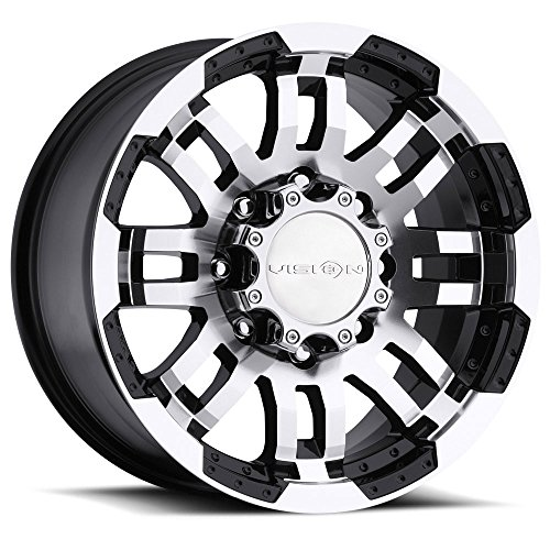 Vision Warrior 375 Gloss Black Machined Face Wheel - 17 Wheels Truck