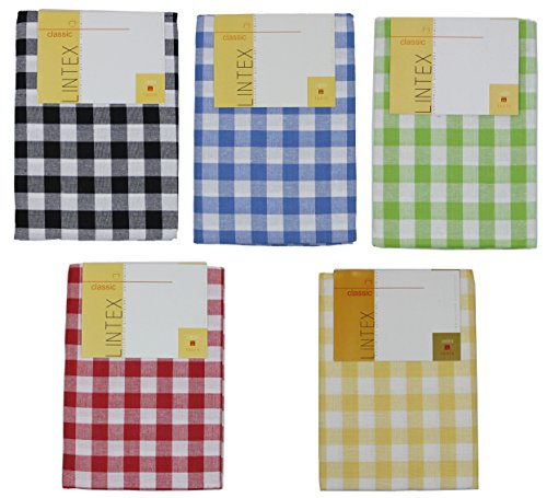 Lintex Buffalo Check Tablecloth - Buffalo Check Tablecloth By Lintex, Blue, 60