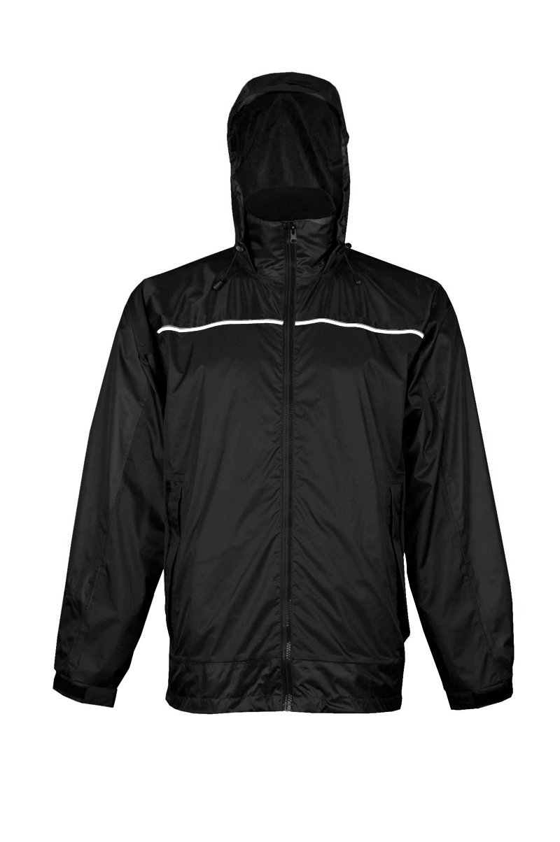 Viking Men's Windigo Waterproof Packable Rain Jacket, Black, X-Large by Viking