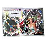 Youareking (100 Pack) Random music film Vinyl Skateboard Guitar Travel Case ...
