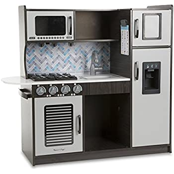 Amazon.com: Melissa & Doug Wooden Chef\'s Pretend Play Toy Kitchen ...
