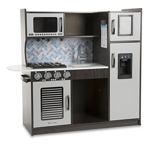 "One of the best play kitchens is the Melissa & Doug Wooden Chef's Toy Kitchen With ""Ice"" Cube Dispenser"