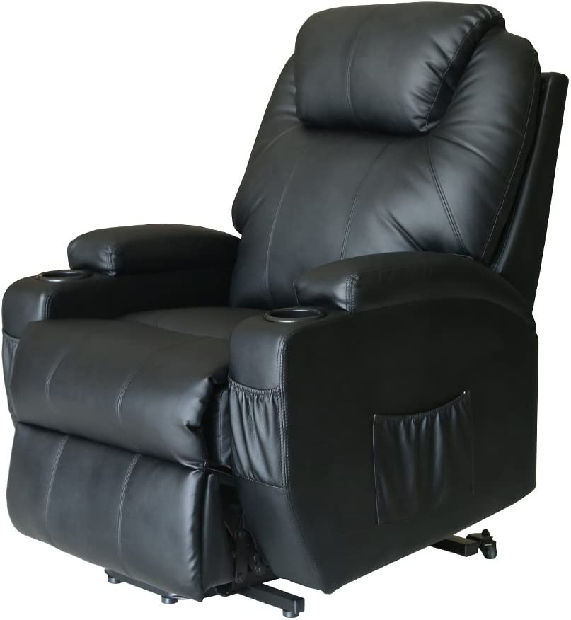 lift recliner with heat and massage