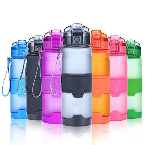 Grsta Sport Water Bottle for Kids-400ml,500ml,700ml&32oz, BPA Free Eco-Friendly Plastice,Reusable Drinking Water Bottles with Filter,Running,Gym,Outdoors-Leak Proof Flip ()