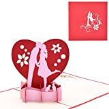 Yolopop Handmade Lovers Kiss Pop Up Greeting Card | Best Gift for Girlfriend / Boyfriend
