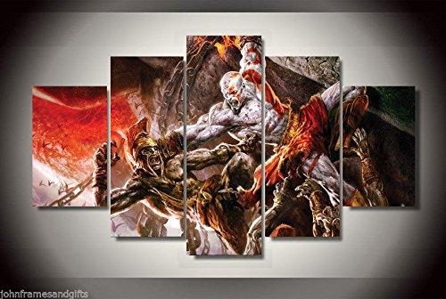 Price comparison product image God Of war kratos print canvas decoration 5 pieces