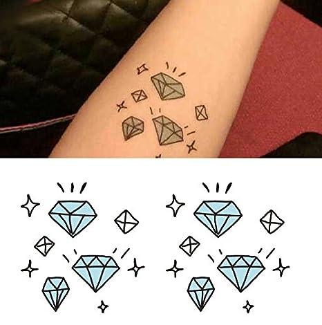 Arte Corporal Pegatinas Tatuaje removibles temporales Diamante ...