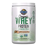 Garden of Life Certified Organic Grass Fed Whey Protein Powder - Peanut Butter,...