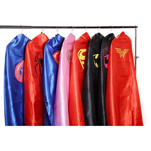 So Sydney Superhero Cape & Mask Set Adult, Mens, Womens Halloween Costume Cloak
