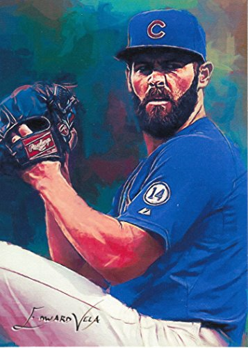 SportArtCards - HUGE SALE! - JAKE ARRIETA #3 - #14/25 - VERY RARE - Chicago Cubs - WORLD SERIES CHAMPION -CY YOUNG AWARD WINNER- Limited Edition Original Artwork Sketch - Young Cy Award