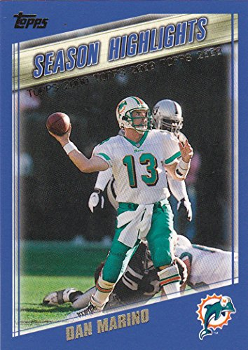 (2000 Topps Miami Dolphins Team Set with 2 Dan Marino & Thurman Thomas - 17 Cards)