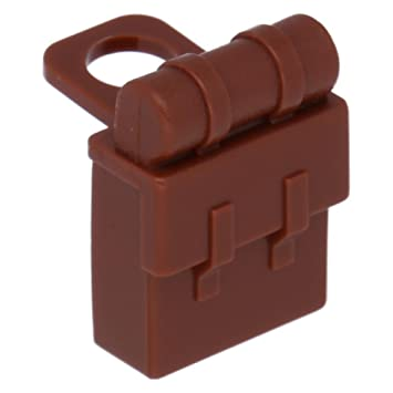 Lego Reddish Brown Non Opening Minifig Backpack NEW