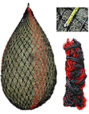 """Deluxe Slow hay Feeder hay net with 1-3/4"""" mesh Holes for Horses, Goats…"""