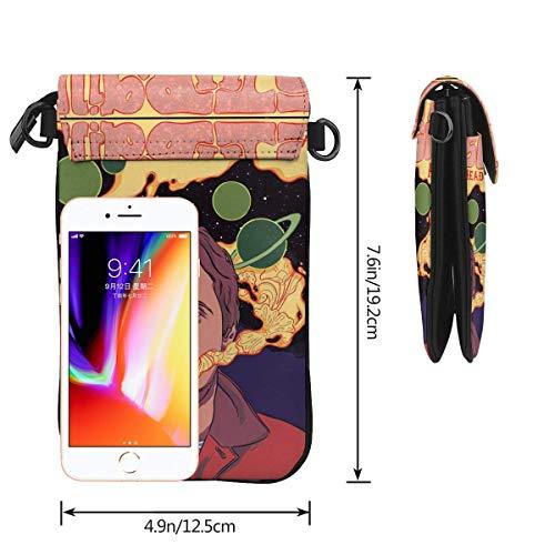 Hdadwy mobiltelefon crossbody väska Sturgill Simpson läder smartphone crossbody plånbok handväska, kvinnor liten axelremsväska