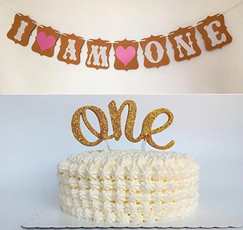 Sweet Heart First Birthday Cake Topper -