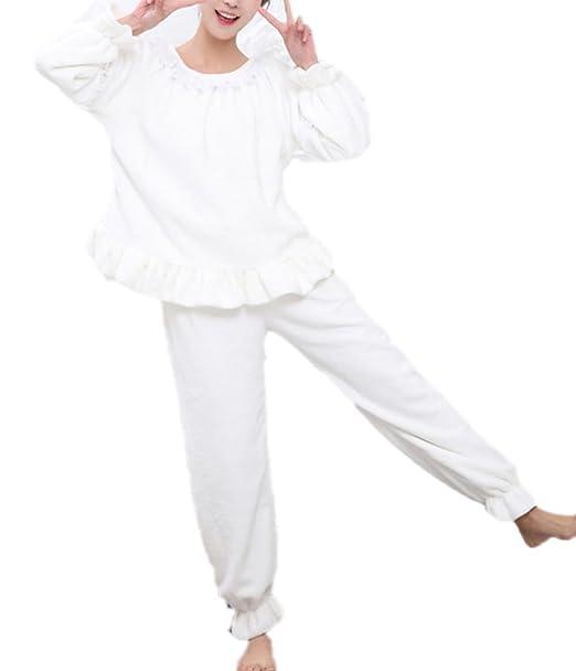 Ropa Interior Térmica De Algodón Para Mujeres Conjunto De Invierno Long Johns Forrado,White-