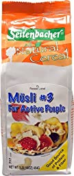 Seitenbacher All Natural Cereal #3 Musli For Active People -- 1 lb - 2 pc
