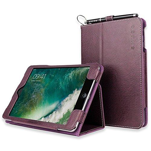 Snugg iPad Mini 1 and Mini 2 Case, Amethyst Purple Leather Smart Case Cover Apple iPad Mini 1 and Mini 2 Protective Flip Stand Cover with Auto Wake/Sleep