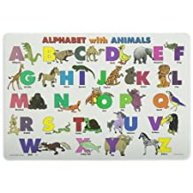 PAINLESS LEARNING PLACEMATS-Alphabet with Animals-Placemat