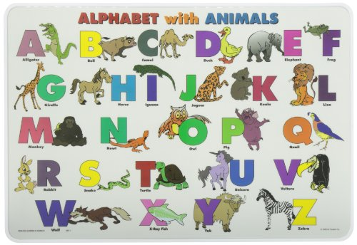 Painless Learning Alphabet with Animals Placemat