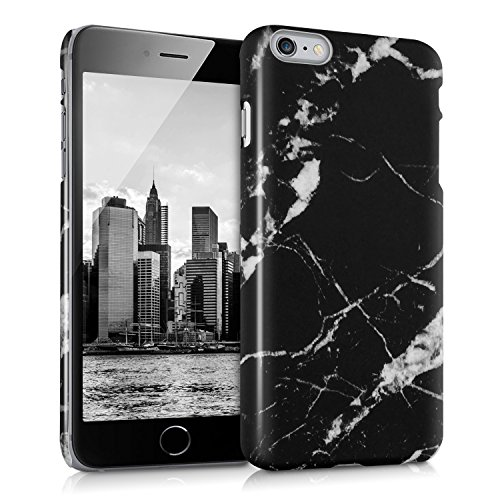 kwmobile Hard case Design marble for Apple iPhone 6 Plus / 6S Plus in black white