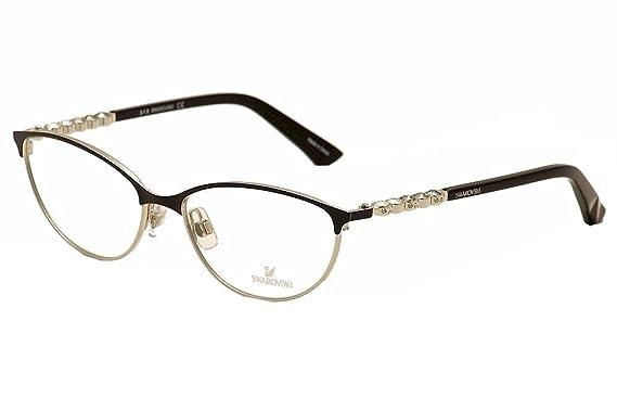 09a0e1549b5 SWAROVSKI Eyeglasses SK5139 FIONA 001 Shiny Black at Amazon Men s ...