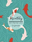Monthly Bill Planner and Organizer: Japanese Koi