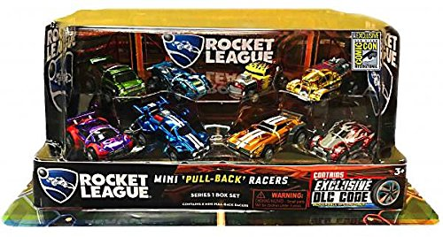 SDCC 2017 Rocket League Exclusive 8pcs PullBack Racer Set with DLC Code & sticker