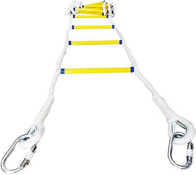 FTDSR Escalera de Cuerda de Escape de Seguridad contra Incendios de Emergencia con Ganchos, (2-7 Pisos) Escalera de Cuerda de Seguridad Resistente a Las Llamas: Reutilizable (Size : 98.4ft): Amazon.es: Hogar