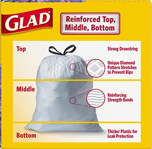 012587784594 - Glad OdorShield Tall Kitchen Drawstring Trash Bags - Febreze Mediterranean Lavender, 13 Gallon, 40 Count carousel main 3