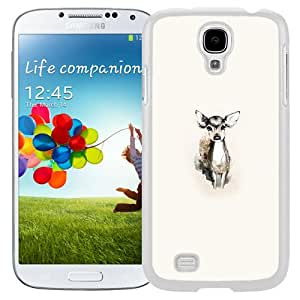 Unique Designed Cover Case For Samsung Galaxy S4 I9500 i337 M919 i545 r970 l720 With Tiny Deer Illust Art (2) Phone Case