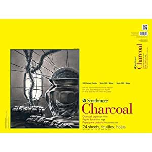 """Strathmore STR-330-18 24 Sheet Charcoal Pad, 18 by 24"""""""